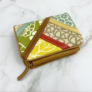 Floral Fossil wallet Leather Multi Color Canvas
